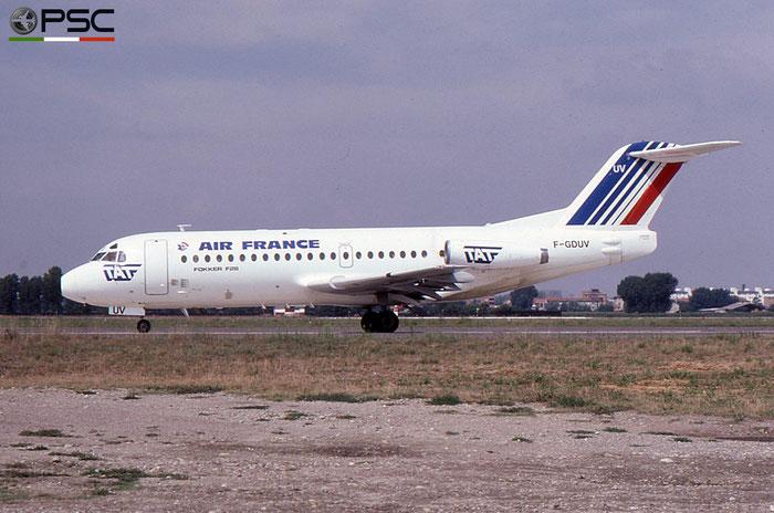 F-GDUV F28-2000 11109 Air France opb TAT - Transport Aérien Transrégional © 2018 courtesy of Marco Ceschi - Piti Spotter Club Verona