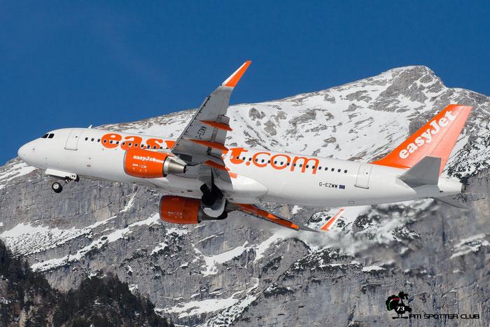 G-EZWW A320-214 6188 EasyJet Airline @ Innsbruck Airport 28.01.2017 © Piti Spotter Club Verona