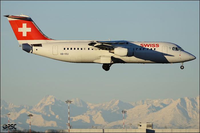HB-IXU BAe146-RJ100 E3276 Swiss European Air Lines @ Milano Malpensa Airport 25.01.2014 © Piti Spotter Club Verona