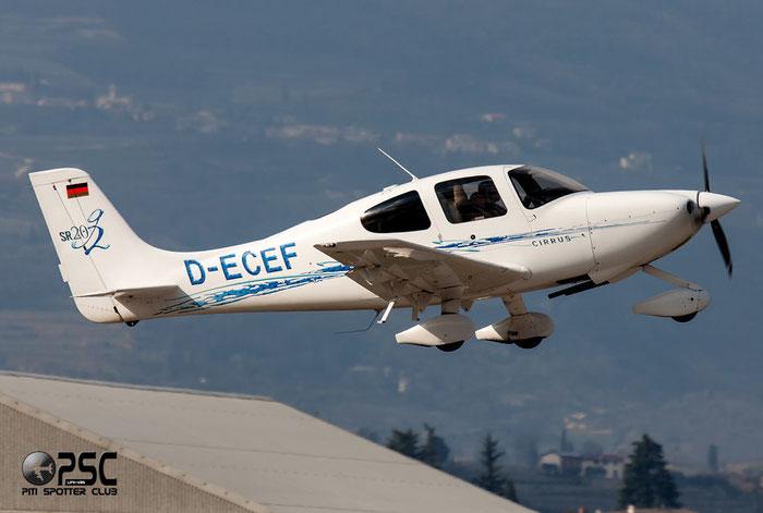 D-ECEF Cirrus Design Corp SR-20 G2 SR20 1550 @ Aeroporto Verona Boscomantico © Piti Spotter Club Verona