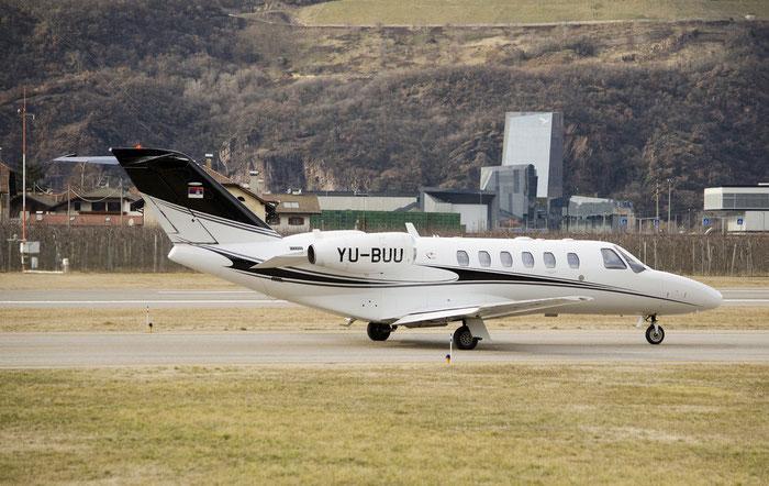 YU-BUU Ce525A (CJ2+) 525A-0411 AirPink @ Aeroporto di Bolzano © Piti Spotter Club Verona