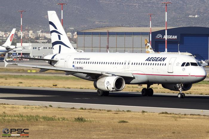 SX-DGJ  A320-232  3316  Aegean Airlines  @ Athens 2019 © Piti Spotter Club Verona