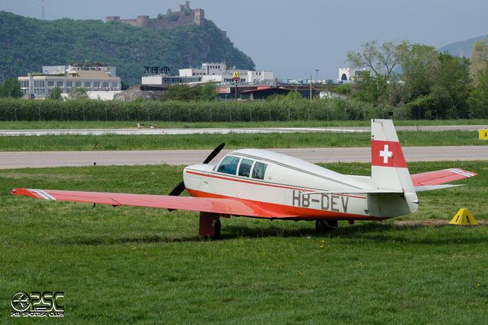 HB-DEV Mooney M-20F Executive 21 M20P 670058 @ Aeroporto di Bolzano © Piti Spotter Club Verona