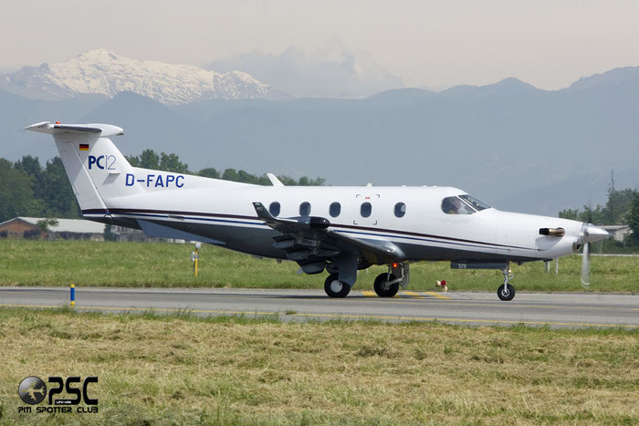 D-FAPC PC-12/45 536 Diamond Flight Operation @ Bergamo Airport 02.06.2013 © Piti Spotter Club Verona