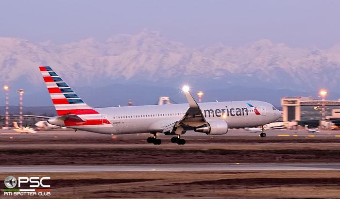 N349AN B767-323ER 33088/913 American Airlines @ Milano Malpensa Airport 20.02.2016 © Piti Spotter Club Verona