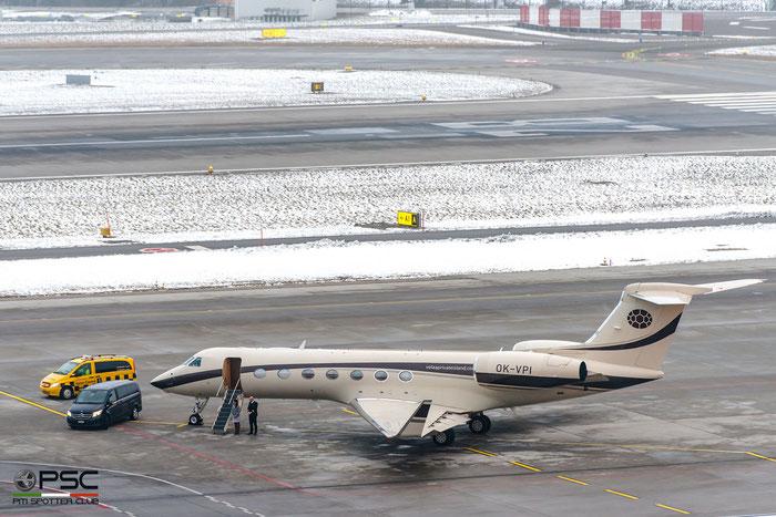 OK-VPI G550 5189 Fonic International Ltd. / ABS Jets @ Zurich Airport 21.01.2017 © Piti Spotter Club Verona