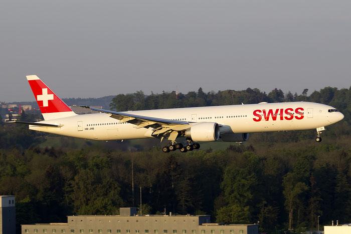 HB-JNB B777-3DEER 44583/1383 Swiss Global Air Lines @ Zurich Airport 05.2016 © Piti Spotter Club Verona