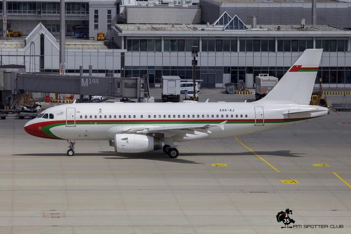 A4O-AJ A319-115 (ACJ) 4992 Government of Oman @ Munich Airport 15.05.2016 © Piti Spotter Club Verona