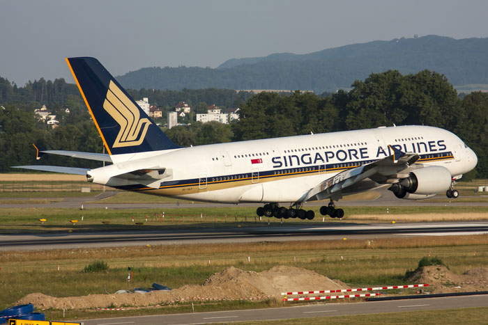 9V-SKT A380-841 92 Singapore Airlines @ Zurich Airport 20.07.2013 © Piti Spotter Club Verona
