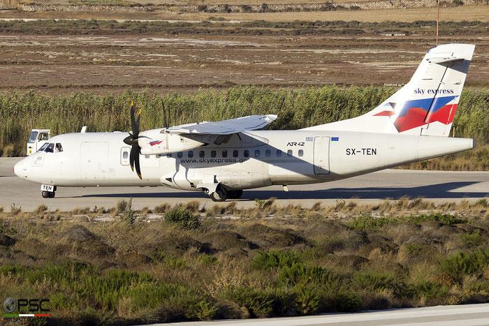 SX-TEN  ATR42-500  542  Sky Express @ Milos 2020 © Piti Spotter Club Verona