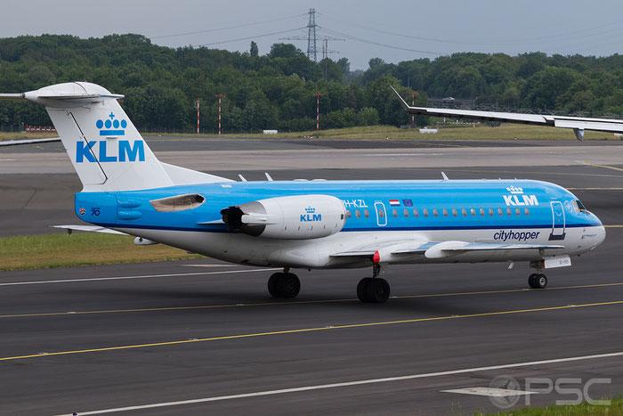 PH-KZL Fokker 70 11536 KLM Cityhopper @ Dusseldorf Airport 05.2011  © Piti Spotter Club Verona