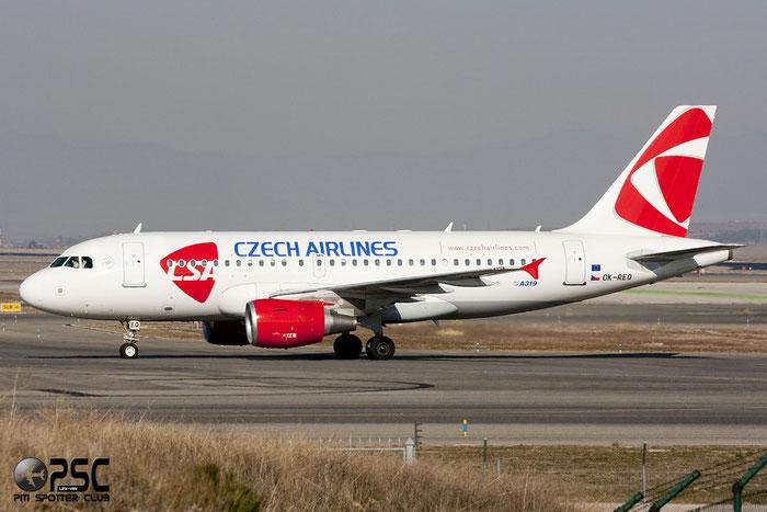 OK-REQ A319-112 4713 CSA Czech Airlines @ Madrid Airport 01.2012 © Piti Spotter Club Verona