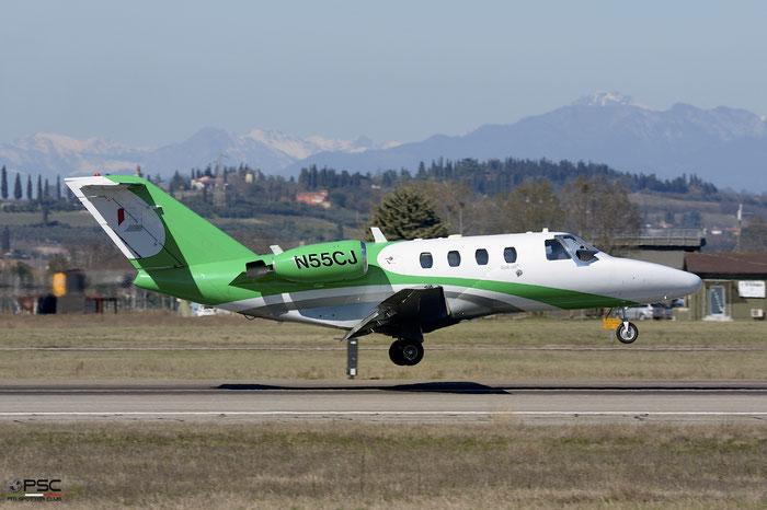 N55CJ Ce525 525-0298 Aviarental Inc. @ Aeroporto di Verona 11.03.2017  © Piti Spotter Club Verona