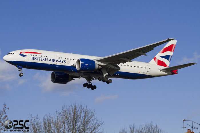 G-VIIJ B777-236ER 27492/111 British Airways @ London Heathrow Airport 07.02.2014 © Piti Spotter Club Verona