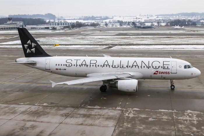 HB-IJM A320-214 635 Swiss International Air Lines @ Zurich Airport 19.01.2016 © Piti Spotter Club Verona
