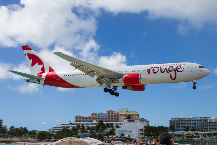 C-FJZK B767-3Q8ER 29386/831 Air Canada rouge @ Sint Maarten Airport 09.04.2016 © Piti Spotter Club Verona