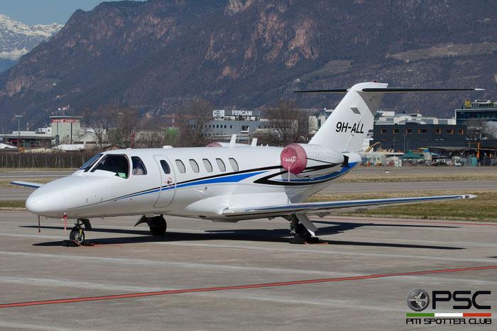 9H-ALL Ce525A 525A-0005 Luxwing Ltd. @ Aeroporto di Bolzano © Piti Spotter Club Verona
