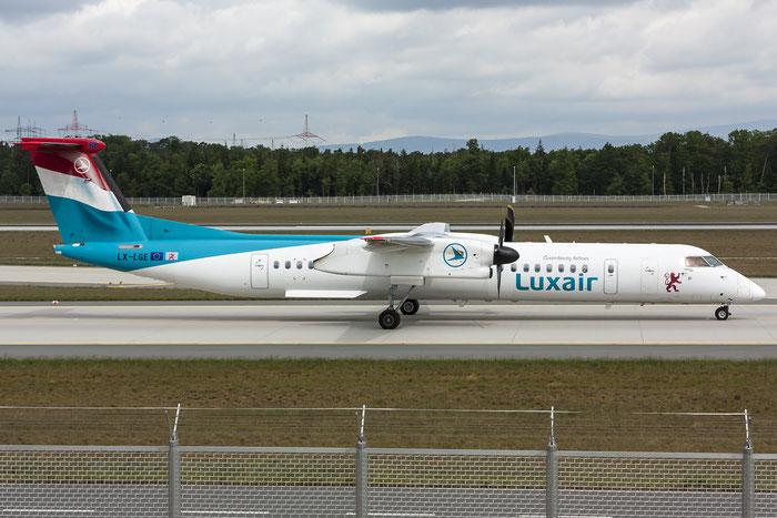 LX-LGE DHC-8-402 4284 Luxair @ Frankfurt Airport 08.05.2015 © Piti Spotter Club Verona