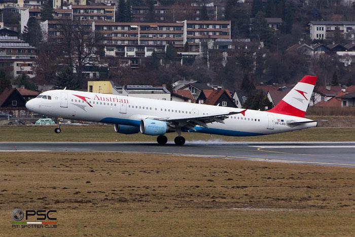 OE-LBD A321-211 920 Austrian Airlines @ Innsbruck Airport 09.01.2016 © Piti Spotter Club Verona