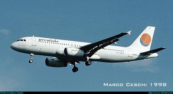OY-CNG  A320-231  169  Premiair  @ Aeroporto di Verona © Piti Spotter Club Verona