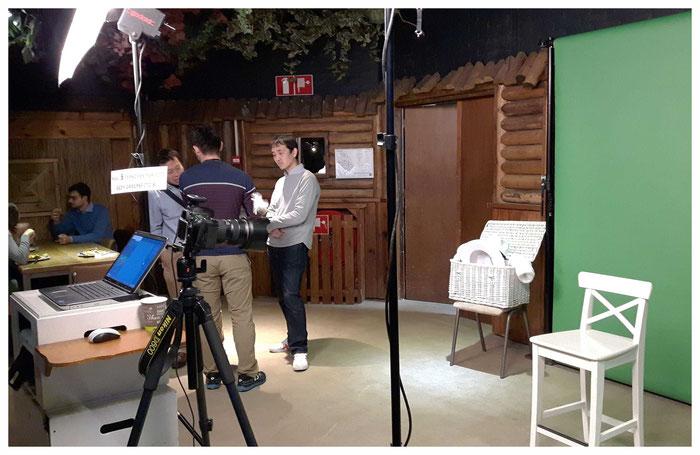 Foto van de Greenscreenstudio in Ouwehands Dierenpark voor Shimano