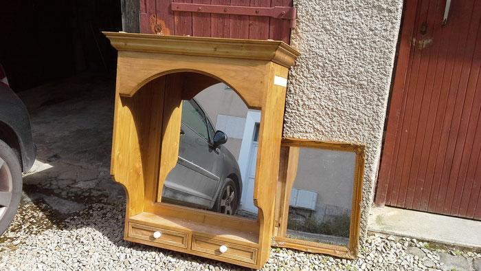 Mes 2 miroirs achetés en vide greniers avant relooking!