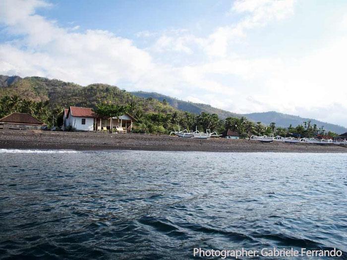 La spiaggia di Amed a Bali