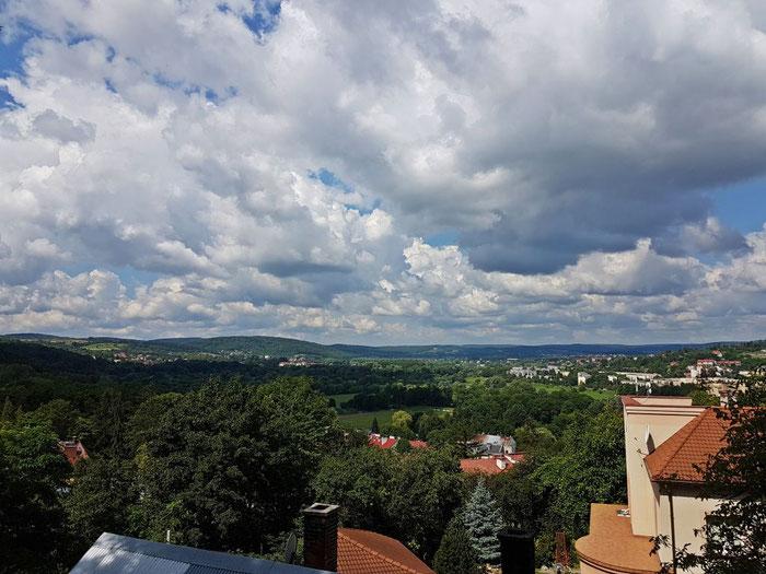 Blick vom Schlossberg auf Przemyśl und das Karpatenvorland