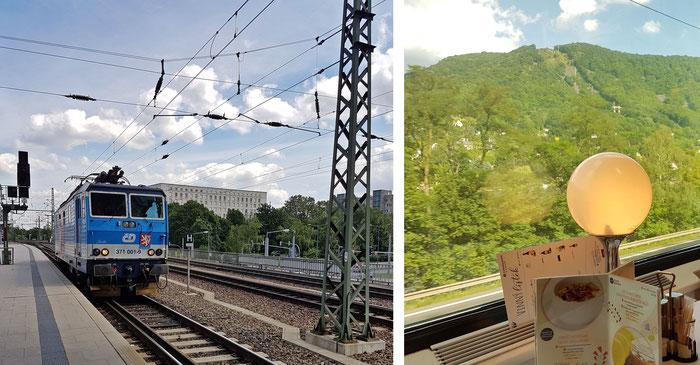 """Die Knödelpresse """"Lucka"""" bringt uns und unseren Speisewagen nach Prag"""