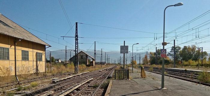 ...und die schmale Spur des Train Jaune mit Stromschienen.