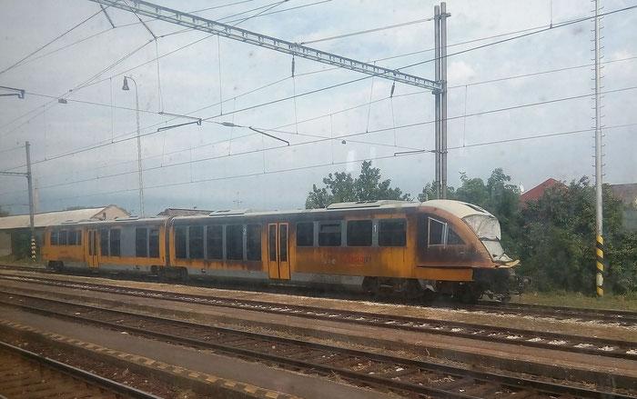 verunfallter Triebwagen von RegioJet