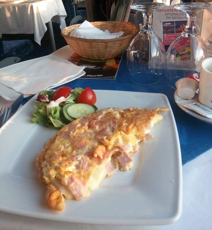 Da ist es wieder: das Wagon Slovakia-Omelette.