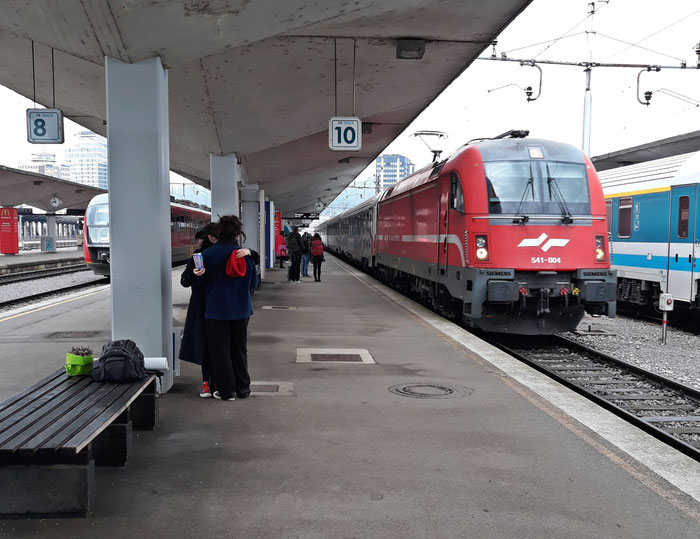 EN 415 Zürich - Belgrad bei der Einfahrt in Ljubljana