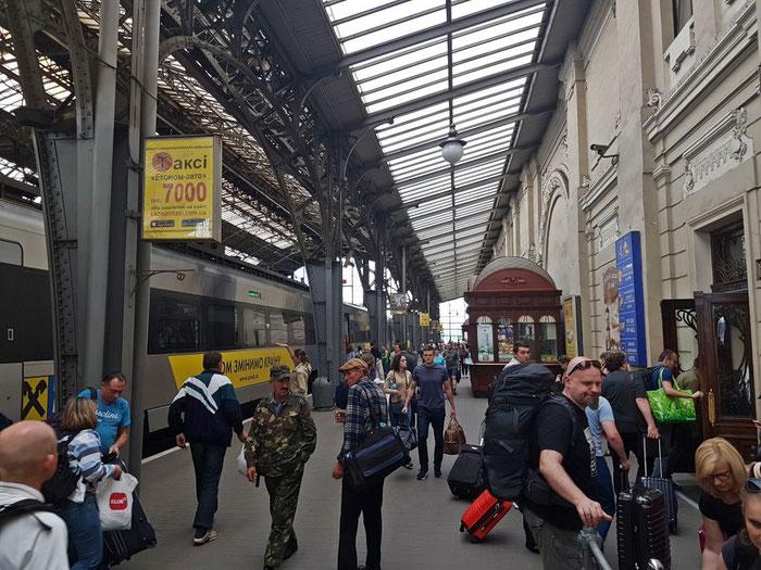 Ankunft in Lviv (Lemberg)