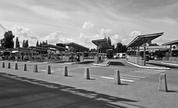 Unsere zweite Wahl: der Busbahnhof von Elbląg.