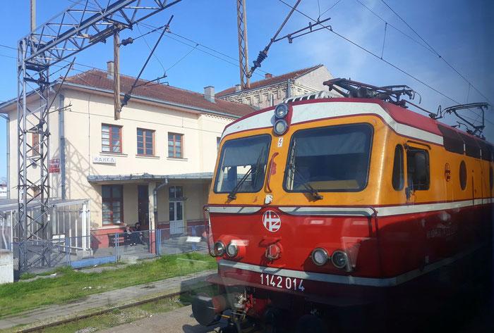 Die kroatische Lokomotive beendet an der serbischen Grenze ihren Einsatz