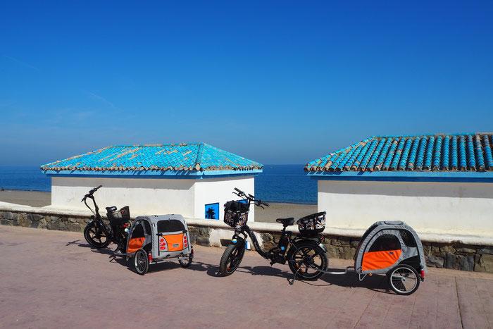 Promenadenradeln Et-Tleta-el-Oued Laou / Mittelmeerküste / Marokko / 02.2020