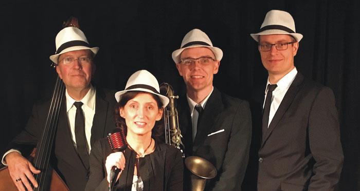 Jazzsängerin, Kontrabass, Saxofon, Klavier, Jazzquartett, Musiker, Hochzeit, Musik, Künstler,