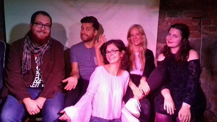 Diesmal mit dabei (v.l.n.r.): Nils Matzka, Jack Pop, ich, Bonny Lycen und Marsha Richarz.