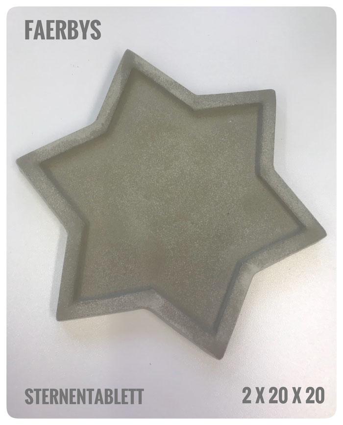#gussform Sterne #beton #stern #sterntablett #concrete art #betondesign #tablett #untersetzer #gießformen #betongussform #betontablett #