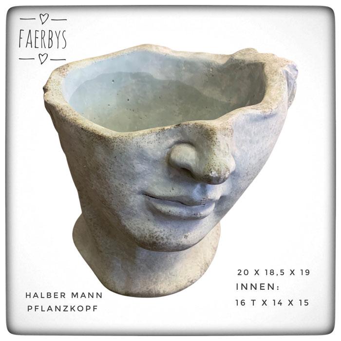 #Pflanzkopf #Büste #Steinguss #beton #gussformen #gießformen #beton formen #concrete #garten #dekoration #klassische köpfe #köpfe