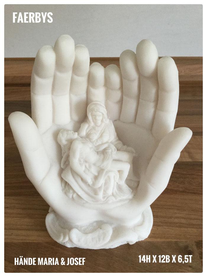 Gießform Maria und Josef in Hände