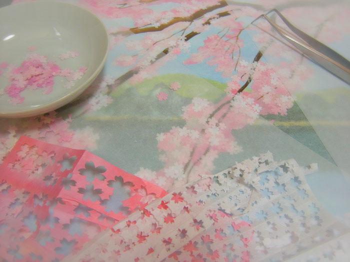 和風イラスト・和紙絵・切り絵・制作過程