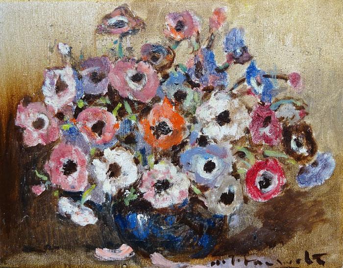 H.J. Pauwels, schilderij, olieverf, bloemstilleven