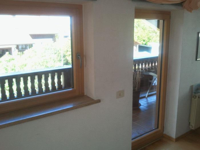 Holz-Alu-Fenster Innen Kiefer farblos lasiert