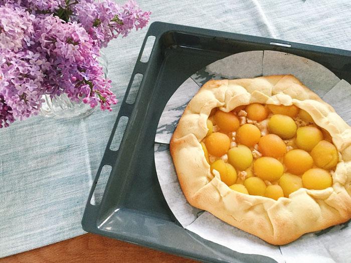 Zarte Marillen-Crostata.