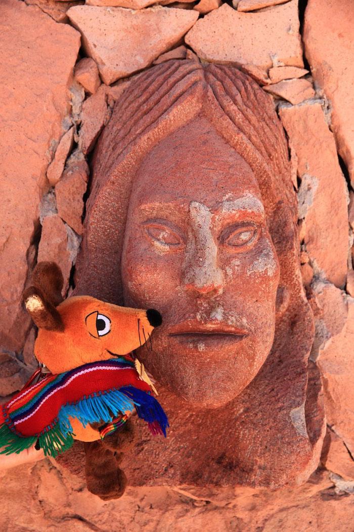 Maus und ein Atacamabewohner