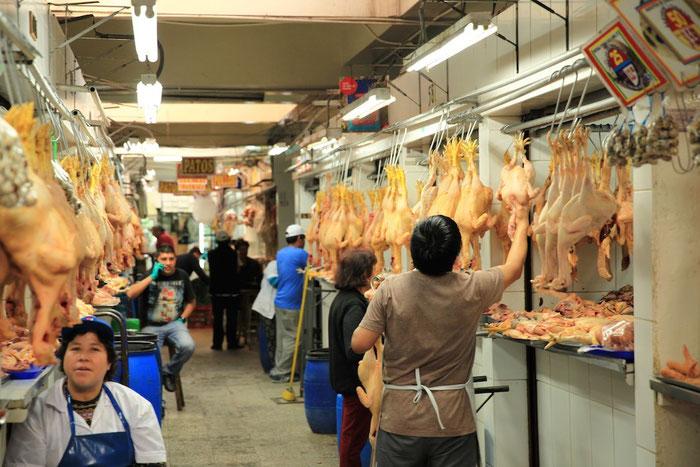 Auf dem Markt, Abteilung Huhn