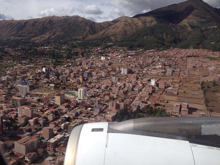 Im Anflug auf Cuzco