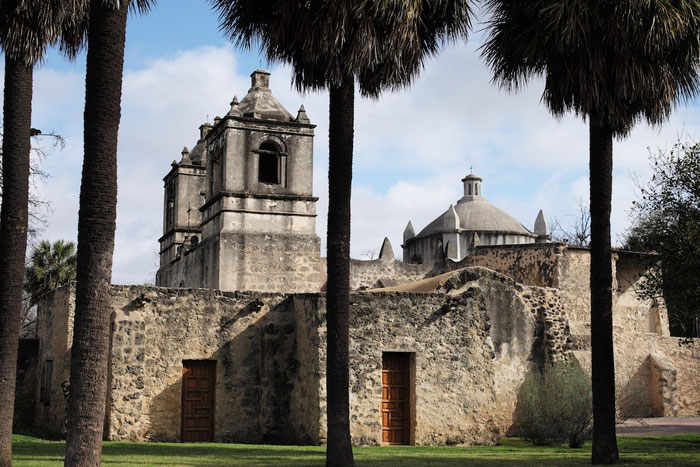 Ein Nationalpark der anderen Art: Der Missions National Historic Park mit den Missionen Nuestra Senora de la Purísima Concepción de Acuna,.....